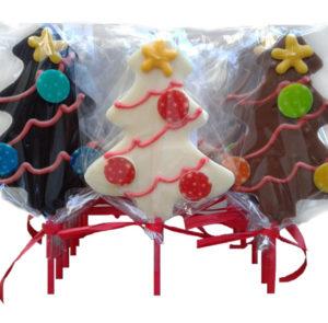 Piruletas Chococolate Navidad Arbol