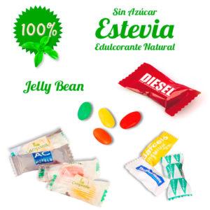 Caramelos Sobre Jelly Bean Personalizados con Estevia