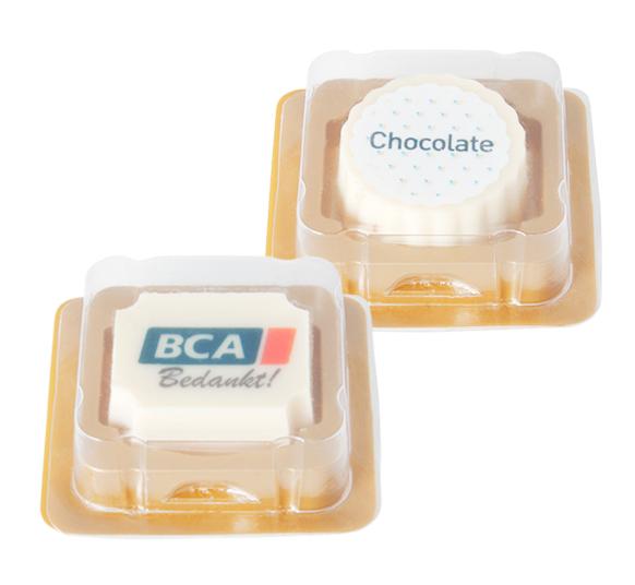 Bombón Personalizado de Chocolate Blanco con Praliné